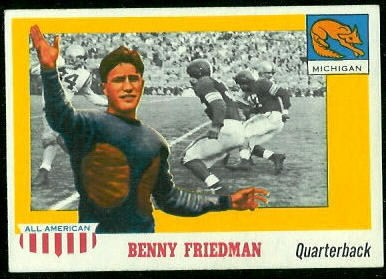 1955 Topps All-American #64 - Benny Friedman - exmt
