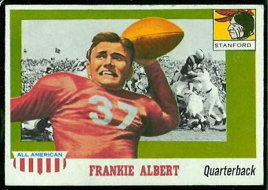 1955 Topps All-American #67 - Frankie Albert - exmt