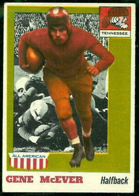1955 Topps All-American #74 - Gene McEver - ex