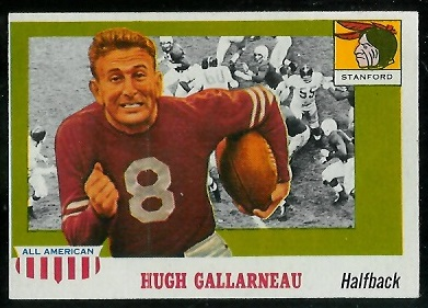 1955 Topps All-American #75 - Hugh Gallarneau - ex