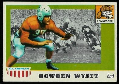 1955 Topps All-American #77 - Bowden Wyatt - exmt