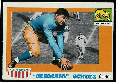 1955 Topps All-American #87 - Germany Schulz - nm oc