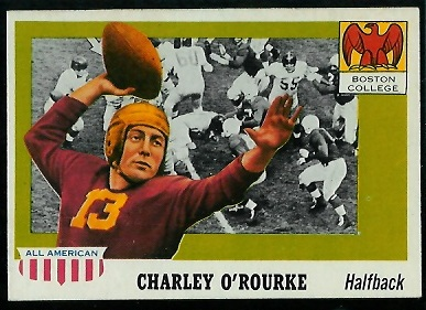 1955 Topps All-American #90 - Charley O'Rourke - exmt