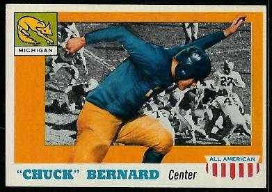 1955 Topps All-American #94 - Chuck Bernard - exmt
