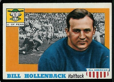 1955 Topps All-American #96 - Bill Hollenback - nm oc