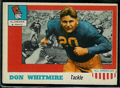 1955 Topps All-American #99 - Don Whitmire - ex
