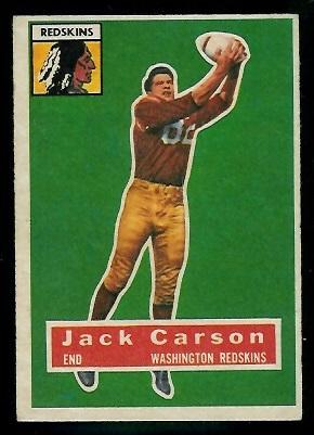1956 Topps #1 - John Carson - ex