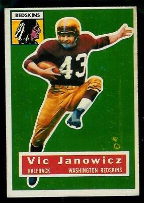 1956 Topps #13 - Vic Janowicz - ex
