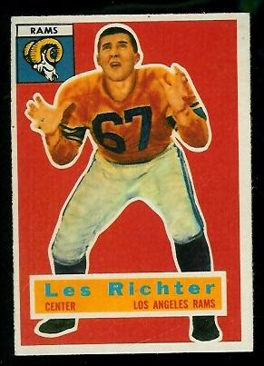 1956 Topps #30 - Les Richter - exmt