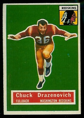1956 Topps #37 - Chuck Drazenovich - exmt