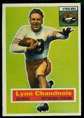 1956 Topps #39 - Lynn Chandnois - exmt