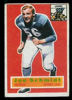 1956 Topps #44 - Joe Schmidt - vg