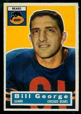 1956 Topps #47 - Bill George - ex