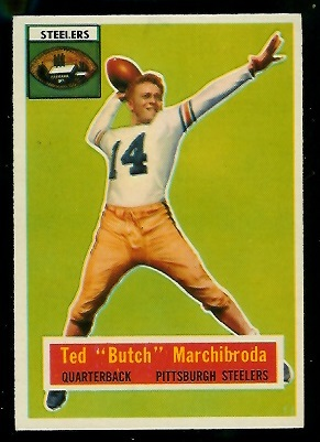 1956 Topps #51 - Ted Marchibroda - exmt