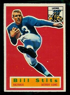 1956 Topps #56 - Bill Stits - exmt