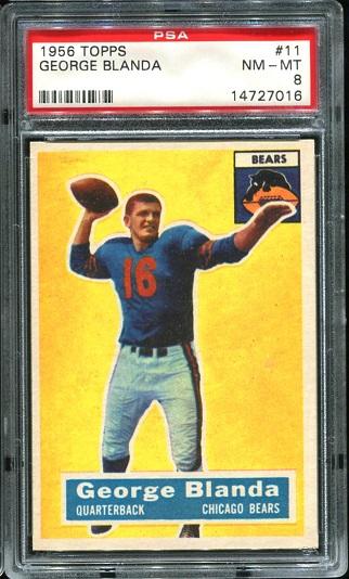 1956 Topps #11 - George Blanda - PSA 8