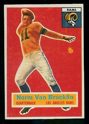 1956 Topps #6 - Norm Van Brocklin - ex