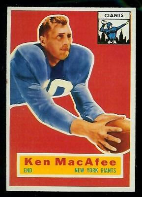 1956 Topps #65 - Ken MacAfee - exmt