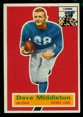 1956 Topps #68 - Dave Middleton - nm