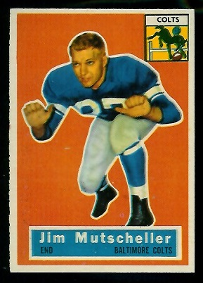 1956 Topps #72 - Jim Mutscheller - nm