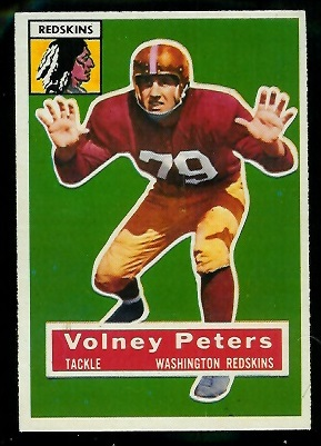 1956 Topps #73 - Volney Peters - exmt