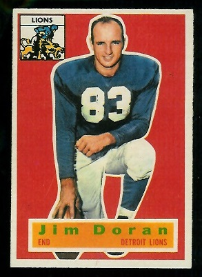 1956 Topps #80 - Jim Doran - exmt