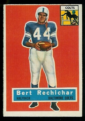 1956 Topps #84 - Bert Rechichar - nm oc