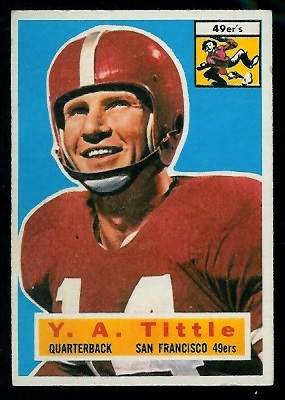 1956 Topps #86 - Y.A. Tittle - ex