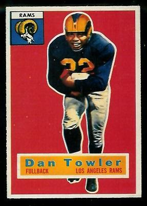 1956 Topps #90 - Dan Towler - exmt