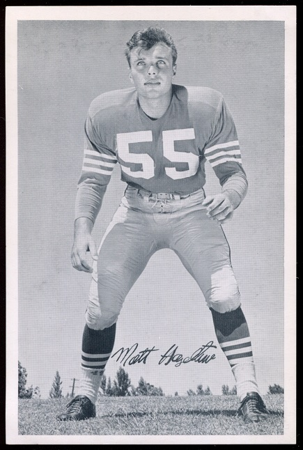 1957 49ers Team Issue #16 - Matt Hazeltine - exmt