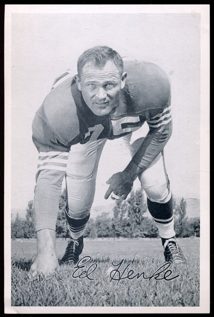 1957 49ers Team Issue #17 - Ed Henke - ex