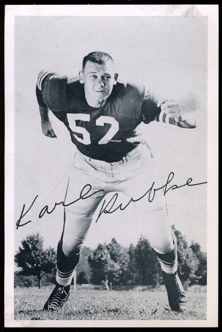 1957 49ers Team Issue #33 - Karl Rubke - exmt