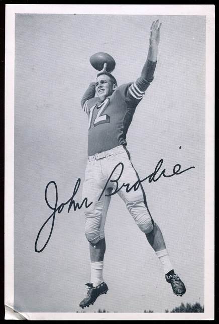 1957 49ers Team Issue #7 - John Brodie - vg