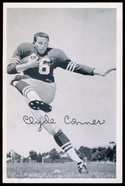 1957 49ers Team Issue #9 - Clyde Conner - exmt