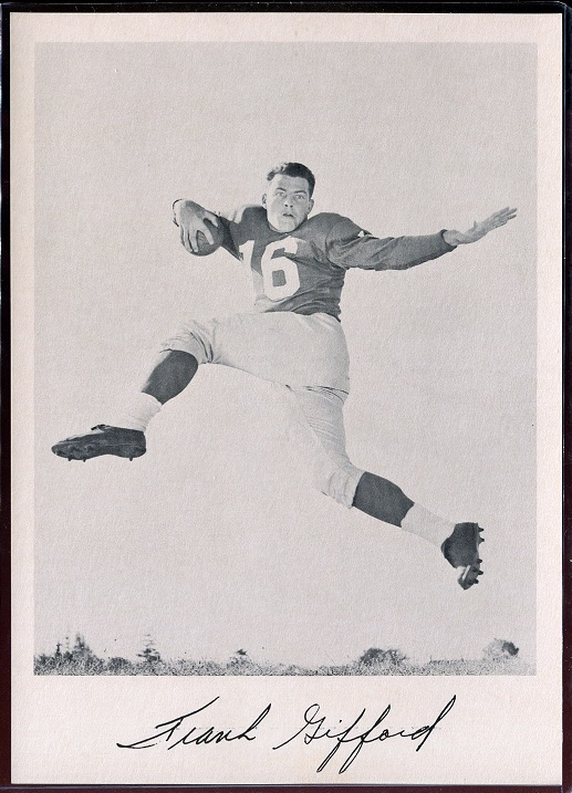 1957 Giants Team Issue #10 - Frank Gifford - nm-mt