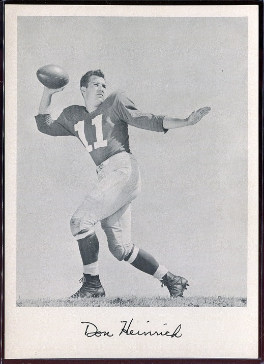 1957 Giants Team Issue #11 - Don Heinrich - nm+