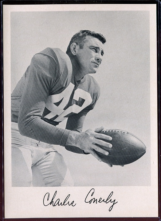 1957 Giants Team Issue #8 - Charley Conerly - nm+