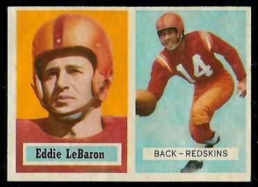 1957 Topps #1 - Eddie LeBaron - exmt