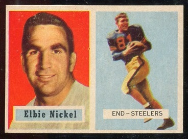 1957 Topps #101 - Elbert Nickel - exmt