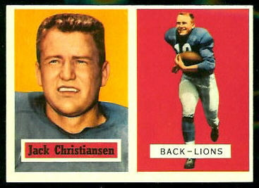 1957 Topps #106 - Jack Christiansen - nm-mt oc