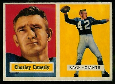1957 Topps #109 - Charley Conerly - exmt