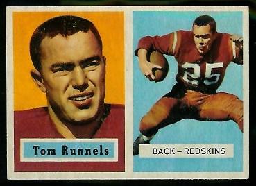 1957 Topps #110 - Tom Runnels - exmt