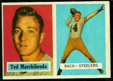1957 Topps #113 - Ted Marchibroda - exmt