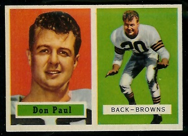 1957 Topps #114 - Don Paul - exmt