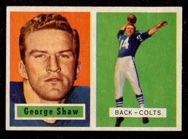 1957 Topps #115 - George Shaw - exmt