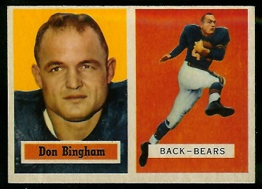 1957 Topps #117 - Don Bingham - exmt