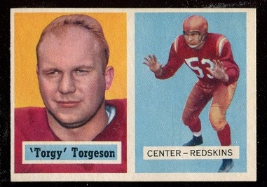 1957 Topps #12 - Torgy Torgeson - nm oc