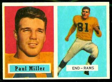 1957 Topps #120 - Paul Miller - exmt