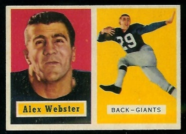 1957 Topps #121 - Alex Webster - ex+