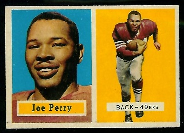 1957 Topps #129 - Joe Perry - exmt